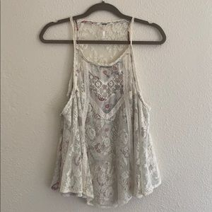 Free People Boho Lace Tank Top Small